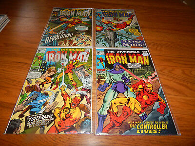 SUPER HIGH GRADE Silver Age Comic Lot Of 4 Iron Man #'s 27,28,29 & 31 VF & Up Cd