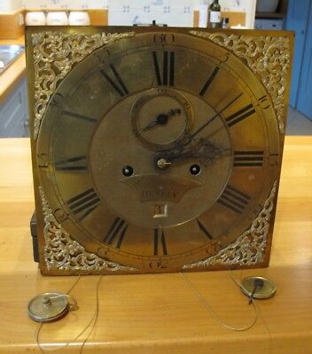Antique Grandfather Clock Movement by Ed. MAY of Henley On Thames, Dates 1755-95