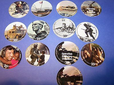 8 th Print Set 25 Cent AAFES  Pogs 2006A printing About Uncir.