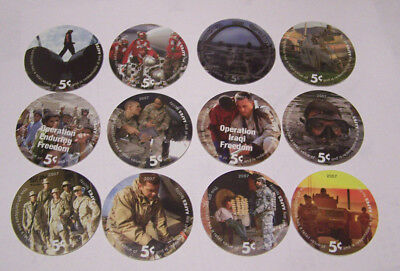 10th Print 5 Cents Set of AAFES  Pogs  in  A.U.  condtion