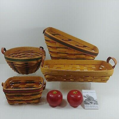 Longaberger and Hershberger USA Baskets 4 pcs All Stamped Signed by Artisan
