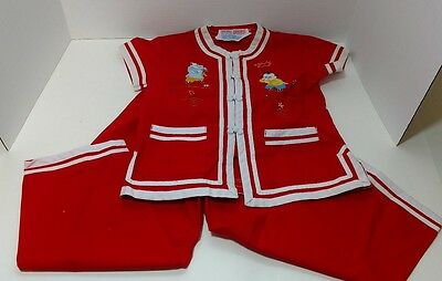 Double Dragons Asian Inspired Childs Outfit Size 4
