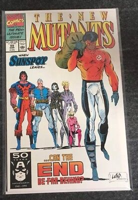 New Mutants #99 1st Appearance of Shatterstar & Feral, Cable, Liefeld (1990)
