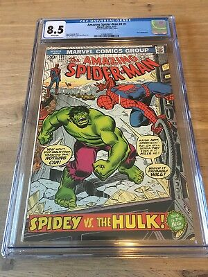 The Amazing Spider-Man 119 - CGC 8.5 - Hulk Appearance - White Pages