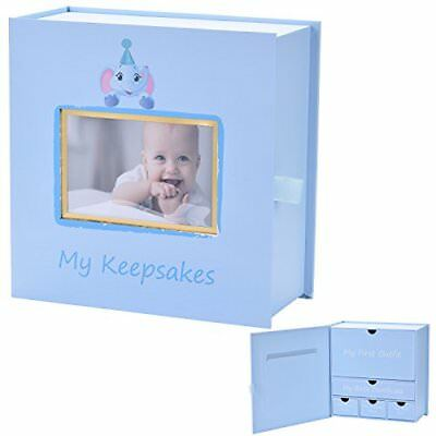 Baby Keepsake Box, First Year Baby Memory Box Set: Record Your Girls or Boys Fi.