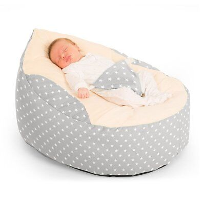 Rucomfy Luxury Cuddle Soft Fabric Seat New Adjustable Harness Baby Bean Bags