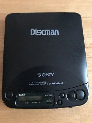 Sony Discman D 121 CD Player mit Mega Bass -
