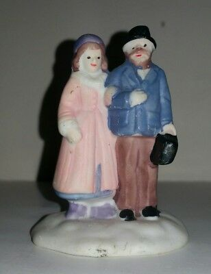 Husband and Wife Carring A Violin Case Ceramic Decoration