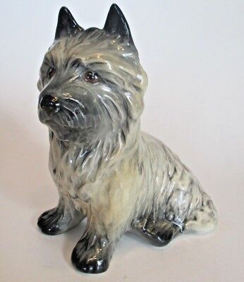 Sylvac Cairn Terrier Gray Dog Figurine 5 inch 3447 Vintage Made in England