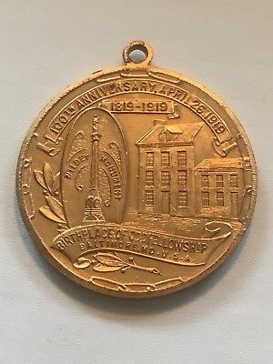 old MASONIC PENNY trade token IOOF 1919 BALTIMORE MARYLAND WIDLEY MONUMENT MD