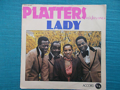 """The Platters - Lady (RARE 7"""" Single France,1981, Z= sehr gut- )"""