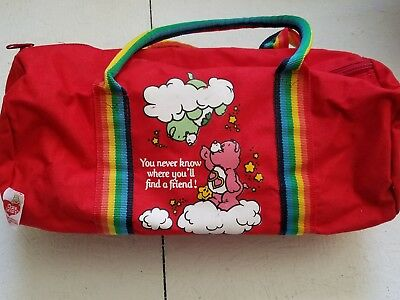 Vintage 1980s Care Bears Bag Luggage Tote American Greetings Suitcase Duffel