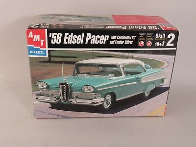 58 Edsel Pacer With Continental Kit AMT/ERTL Plastic Model Car Kit 1:25 Scale