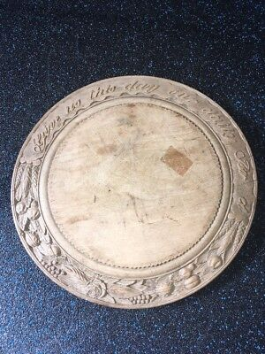 """Amazing Rare Antique Primitive Large 13"""" Deeply Hand Carved Bread Board Must See"""