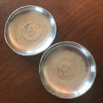 Two (2) Chinese Export Sterling Silver Coin Dish