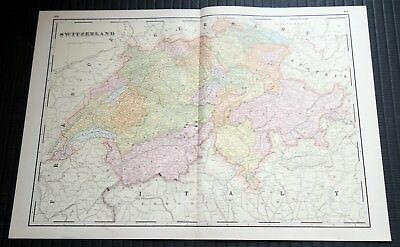 Crams Railway System Atlas Map Switzerland Austro Hungarian Italy 1895
