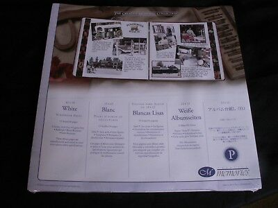Creative Memories NIP NEW Original 12x12 White Scrapbook Pages 15 Sheets/30 Page
