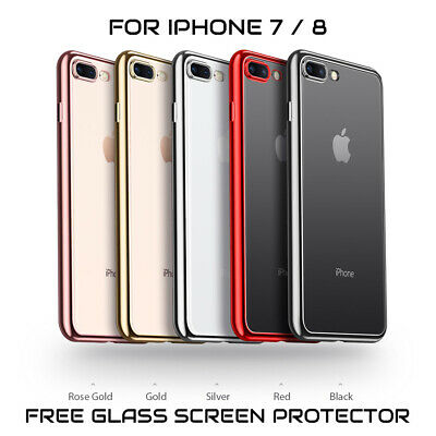 NEW iPhone 7 iPhone 8 Luxury Case TORRAS Ultra-Thin TPU Cover + Screen Protector