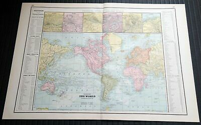 Crams Railway System Atlas Map The World Principal Cities Islands Bermuda 1895