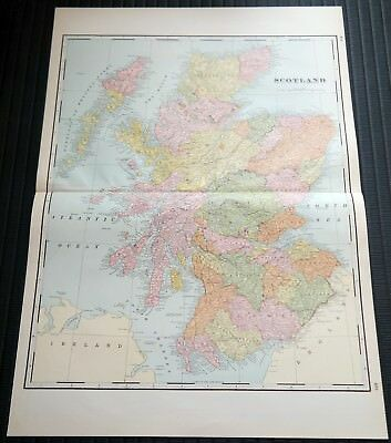 Crams Railway System Atlas Map Scotland Sweden Norway Denmark 1895
