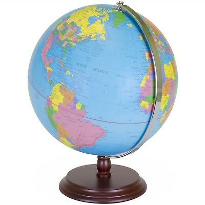 Amazing World Globe | 12 Inch Desktop Atlas with Antique Stand Top Quality New