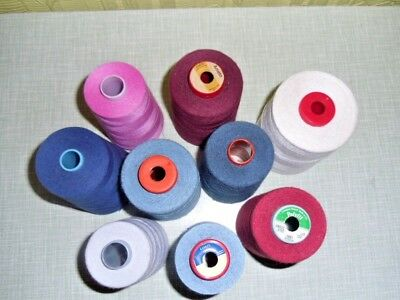 Job Lot Of 120 strength Polyester thread part used 5000M cones various makes.