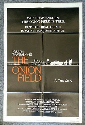 THE ONION FIELD - 1979 Original Folded 27x41 One Sheet Movie Poster, JAMES WOODS