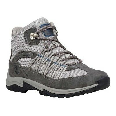 Timberland Women's   Mount Maddsen Lite Mid Hiking Boot Pewter Suede/Fabric Size