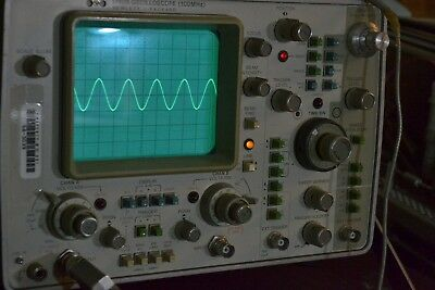 HP Hewlett Packard 1740A oscilloscope appears to work; has front cover