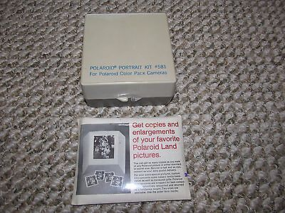 Vintage POLAROID Portrait Kit #581 & Sealed Pack of Print Mounts