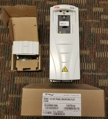 New ACH550-UH-06A9-4 with Mount Kit, Cover ABB HVAC DRIVE. VFD AC 3HP