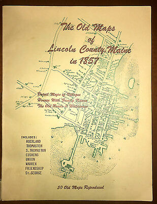 The Old Maps of Lincoln County, Maine in 1857