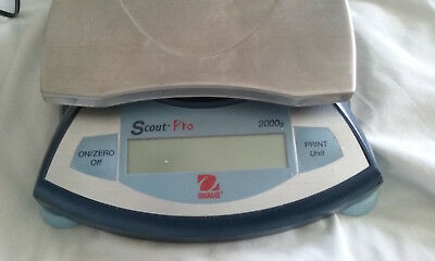 """Ohaus Scout Pro Pr-2001 - W/free """"troemner"""" Weight Set-Stainless Forceps & Case!"""