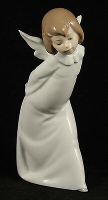 "Lladro ""Curious Angel"" 4060 Retired Signed Spain Decorative Collectible"