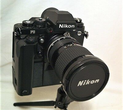 Nikon F3 Hp F3Hp With Zoom Nikkor 25-50Mm 1:4 & Md-4 Winder - Clean & Working