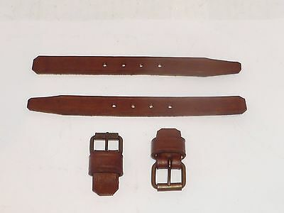 Antique Toy Doll Trunk Leather Strap Set Reproductions of Originals