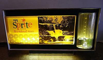 Enjoy Sprite Bubbler Motion Lighted Waterfall 1961 Sign Coca Cola Advertising