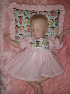 Craftymals  Dress And Scented Pillow.  For Reborn Dolls 19 - 22  Inches