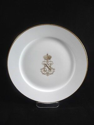 """French SEVRES Napoleon III 9.5"""" Dinner   Luncheon Plate 1855 *Small Chip"""