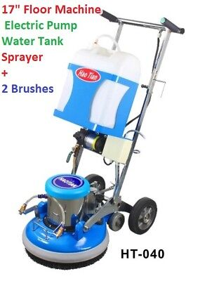 "17"" Floor Machine scrubber with water pump and front Sprayer Carpet Cleaning NEW"