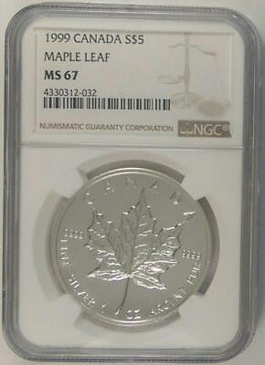 1999		Canada  S$5    Maple Leaf	    Ms 67