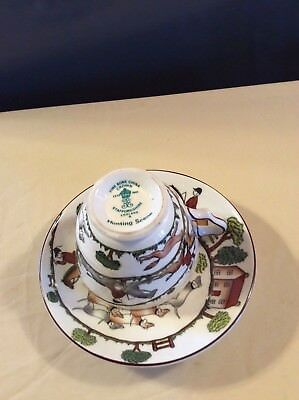 Crown Staffordshire Hunting Scene,Bone China collectable Pattern Tea Cup Set