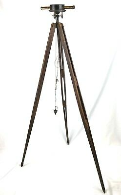 Antique Surveyors Transit Wood Tripod Steel and Brass Transit Over 100 Years