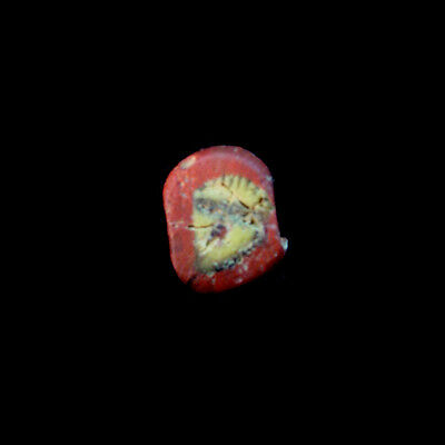Roman Egyptian glass paste face bead. x9622