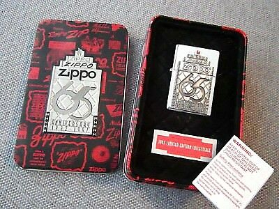 Zippo Lighter 65th Anniversary 1932-1997 Limited Edition in Tin