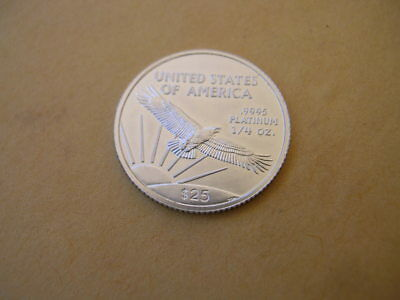 2008 Platinum American Eagle  1/4 oz.  .9995  Only 22,000 Issued