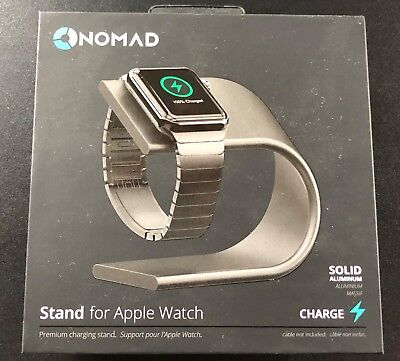 Nomad Premium Aluminum Charging Stand For Apple Watch-NEW- Space-Gray