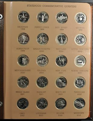 1999-2009 State Quarters Silver Proofs Complete 56-Coin Set In Dansco Album