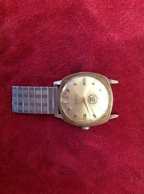 Vintage Watch  Men's  Date 17 Jewel Swiss Made Watch