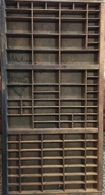 PRINTERS Full Size Wood TYPE CASE Or DRAWER OLD With Handle
